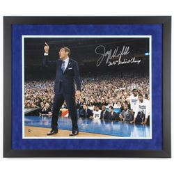 "Jay Wright Signed Villanova Wildcats 22x26 Custom Framed Photo DIsplay Inscribed ""2016 National Cham"