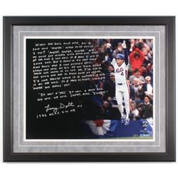Lenny Dykstra Signed New York Mets 22x26 Custom Framed Photo DIsplay with Extensive Inscriptions (St