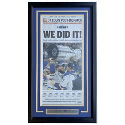 St. Louis Blues Stanley Cup Championship 18x30 Custom Framed Newspaper Display
