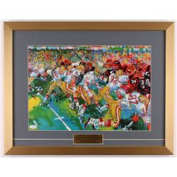 "Joe Montana Signed ""LeRoy Neiman"" 18x23 Custom Framed Print Display (JSA COA)"