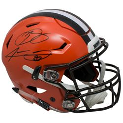 Odell Beckham Jr.  Jarvis Landry Signed Riddell Cleveland Browns Full-Size Authentic On-Field SpeedF