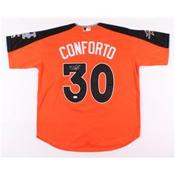 Michael Conforto Signed 2017 All-Star Game Batting Practice Jersey (JSA Hologram)