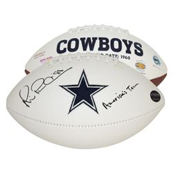 "Michael Irvin Signed Dallas Cowboys Logo Football Inscribed ""America's Team"" (Prova Hologram)"