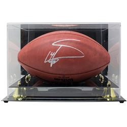 """Stefon Diggs Signed LE """"The Duke"""" Diggs Commemorative Logo Official NFL Game Ball with Display Case"""