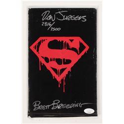 "Brett Breeding  Dan Jurgens Signed LE 1992 ""The Death of Superman"" Memorial Issue #75 DC Comic Book"