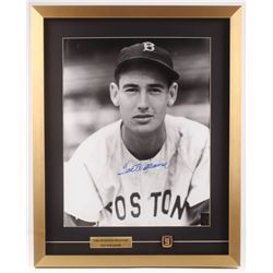 Ted Williams Signed Boston Red Sox 21x26 Custom Framed Photo Display with Replica Ring (Ted Williams