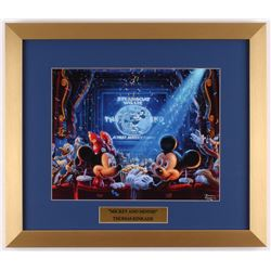 "Thomas Kinkade Walt Disney's ""Mickey  Minnie"" 15.5x18 Custom Framed Print"