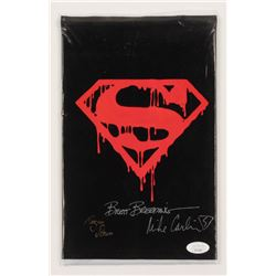 """Brett Breeding, Mike Carlin  Roger Stern Signed 1992 """"The Death of Superman"""" Memorial Issue #75 DC C"""