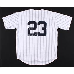 "Don Mattingly Signed New York Yankees Jersey Inscribed ""Donnie Baseball"" (JSA COA)"