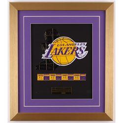 Los Angeles Lakers 15x17 Custom Framed Set of (41) Individual Commemorative Pins Display