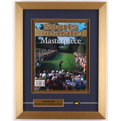 """Tiger Woods """"Sports Illustrated"""" 14x18 Custom Framed Magazine Display with Masters Pin"""