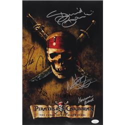 """""""Pirates of the Caribbean: The Curse of the Black Pearl"""" 12x18 Photo Signed by (6) With Martin Klebb"""