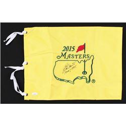 "Ben Crenshaw Signed 2015 Masters Pin Flag Inscribed ""1984  1995"" (JSA COA)"