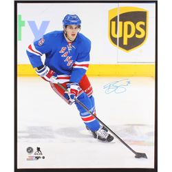 Brady Skjei Signed New York Rangers 20x24 Photo on Canvas (Steiner COA)