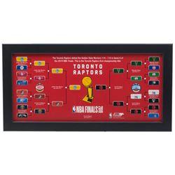 2019 Toronto Raptors NBA Championship Bracket 7x13 Custom Framed Photo Display