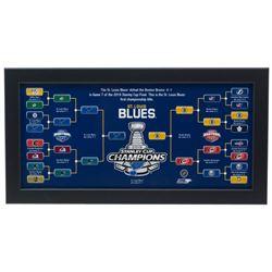St. Louis Blues 2019 Stanley Cup Championship Bracket 7x13 Custom Framed Photo Display