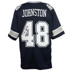 "Daryl Johnston Signed Dallas Cowboys Jersey Inscribed ""Moose"" (Beckett COA)"