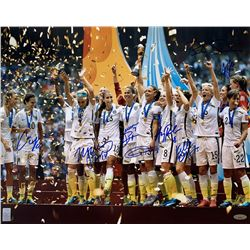 2015 Team USA FIFA Women's World Cup Champions 16x20 Photo Signed By (8) With Carli Lloyd, Shannon B