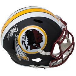 Adrian Peterson Signed Washington Redskins Full-Size Matte Black Speed Helmet (Beckett COA)