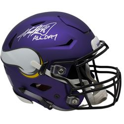 Adrian Peterson Signed Minnesota Vikings Full-Size Riddell Authentic On-Field SpeedFlex Helmet Inscr