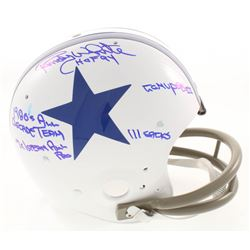 Randy White Signed Dallas Cowboys Throwback Suspension Full-Size Helmet with Multiple Inscriptions (