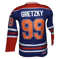 Wayne Gretzky Signed Edmonton Oilers Jersey (PSA LOA)