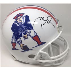 Tom Brady Signed New England Patriots Throwback Full-Size Authentic On-Field Helmet (TriStar Hologra