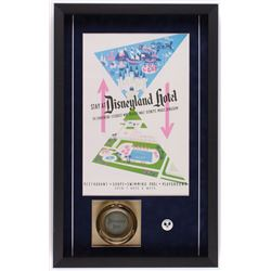 Disneyland Hotel 16.5x26.5x2 Custom Framed Shadowbox Poster Print Display with Ashtray  Employee Pin