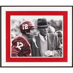 "Joe Namath Signed Alabama Crimson Tide 22x26 Custom Framed Photo Inscribed ""Willie"" (Steiner Hologra"