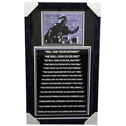 "David Prowse Signed ""Star Wars"" 20x34 Custom Framed Photo Display Inscribed ""Darth Vader"" (Sports Co"