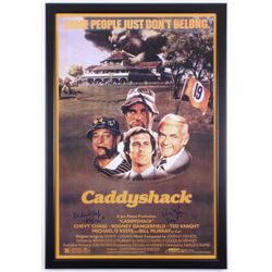 "Cindy Morgan  Michael O'Keefe Signed ""Caddyshack"" 26.5x38.5 Custom Framed Poster Display Inscribed """