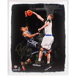 Kristaps Porzingis Signed New York Knicks 29x39 Custom Print Display (Steiner COA)