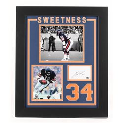 "Walter Payton Signed Chicago Bears ""Sweetness"" 19.5x23.5 Custom Framed Cut Display (Payton COA)"