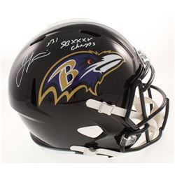 "Jamal Lewis Signed Baltimore Ravens Full-Size Speed Helmet Inscribed ""SB XXXV Champs"" (Beckett COA)"