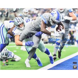 "Kerryon Johnson Signed Detroit Lions 16x20 Photo Inscribed ""1st NFL Touchdown""  ""09/30/18"" (Radtke C"