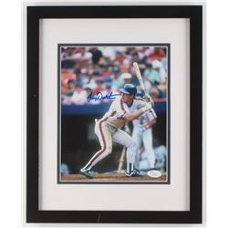Lenny Dykstra Signed New York Mets 12.25x15.5 Custom Framed Photo Display (JSA COA)