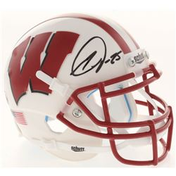 Melvin Gordon Signed Wisconsin Badgers Mini Helmet (Radtke COA)