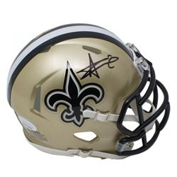 Alvin Kamara Signed New Orleans Saints Speed Mini Helmet (JSA COA)