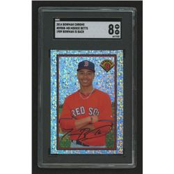 2014 Bowman '89 Bowman is Back Silver Diamond Refractors #89BIBMB Mookie Betts BS (SGC 8)