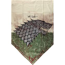 "Kit Harington Signed ""Game of Thrones"" 28x42 Battle of the Bastards Banner (Radtke COA)"