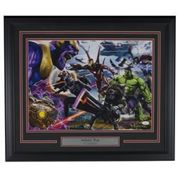 "Greg Horn Signed ""Marvel Infinity War"" 20x26 Custom Framed Lithograph Display (JSA COA)"