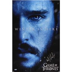 "Kit Harington Signed ""Game of Thrones"" 24x36 Winter is Here Poster (Radtke COA)"
