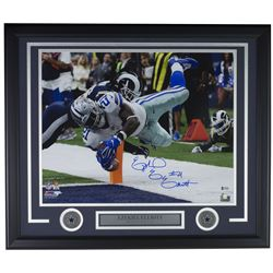 Ezekiel Elliott Signed Dallas Cowboys 22x27 Custom Framed Photo Display (Beckett COA)
