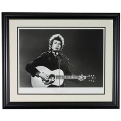 """The Hulton Archive - Bob Dylan """"Like a Rolling Stone"""" Limited Edition 23x28 Custom Framed Fine Art G"""
