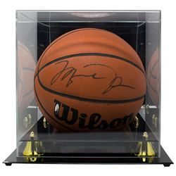 Michael Jordan Signed Wilson Basketball with Display Case (UDA Hologram)