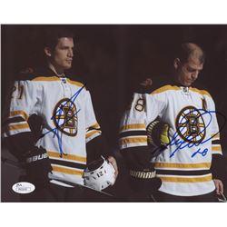 Mark Recchi  Andrew Ferrence Signed Boston Bruins 8x10 Photo (JSA COA)
