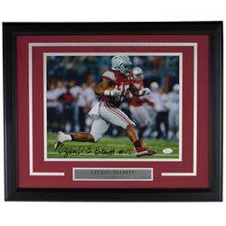Ezekiel Elliott Signed Ohio State Buckeyes 16x20 Custom Framed Photo Display (JSA COA)