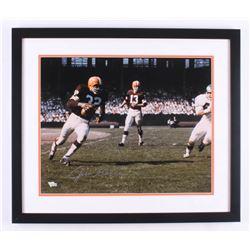 Jim Brown Signed Cleveland Browns 22x26 Custom Framed Photo Display (Steiner COA  Fanatics Hologram)