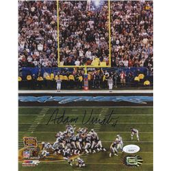 "Adam Vinatieri Signed New England Patriots ""Super Bowl XXXVIII Game Winning FG"" 8x10 Photo (JSA COA)"