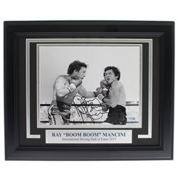 Ray Boom Boom Mancini Signed 11x14 Custom Framed Photo Display (Fanatics Hologram)